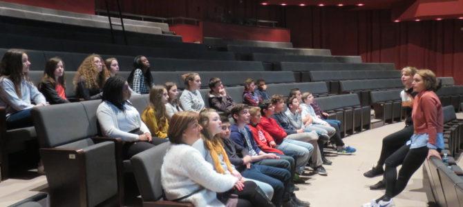 Visite du théâtre de Caen par les 5D