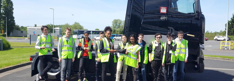 Visite de l'usine Volvo/Renault Trucks à Blainville sur Orne pour les 3eme
