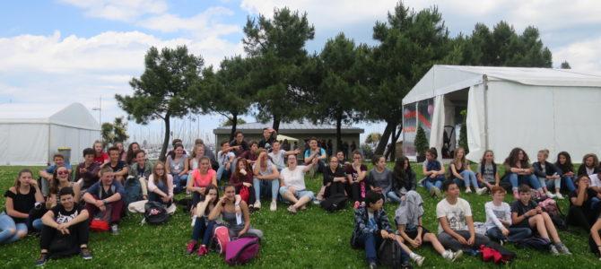 Les quatrièmes au festival du livre de Cherbourg