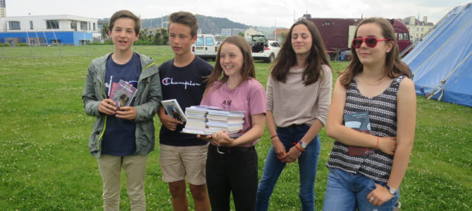 Des lauréats au festival du livre de Cherbourg
